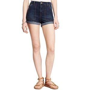 Free People High Waisted cuffed Denim Shorts 💕